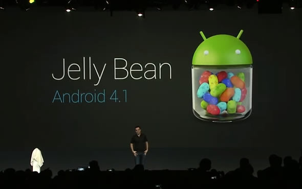Android 4.1 Jelly Bean logo on screen