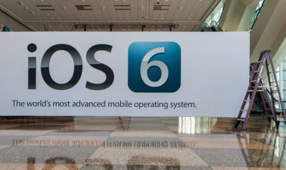 White banner with iOS 6 signage