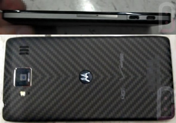 Motorola DROID RAZR HD back and side