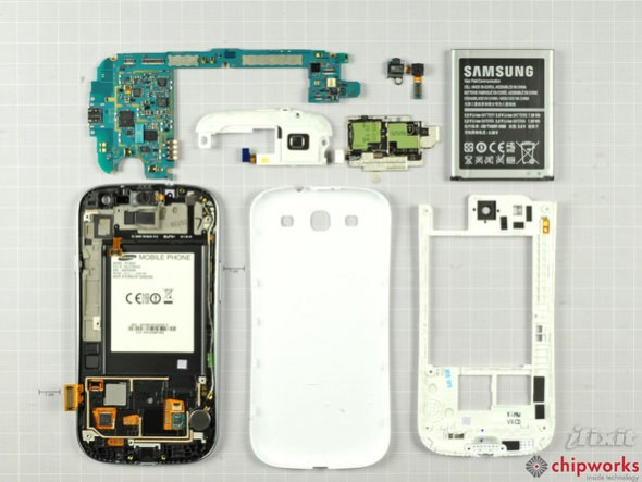 Samsung Galaxy S III teardown all parts