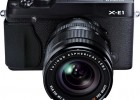 Fujifilm X-E1 with XF 18-55mm zoom lens black front