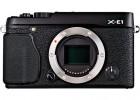 Fujifilm X-E1 black front