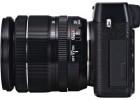 Fujifilm X-E1 with XF 18-55mm zoom lens black side