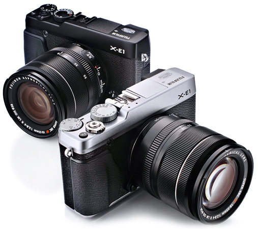 Fujifilm X-E1 black and silver