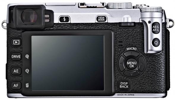 Fujifilm X-E1 silver back