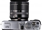Fujifilm X-E1 with XF 18-55mm zoom lens silver top