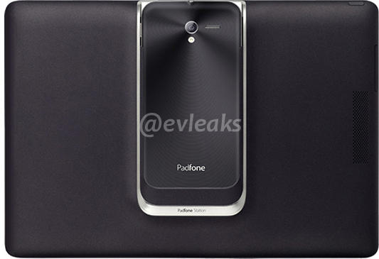 ASUS Padfone 2 docked in tablet