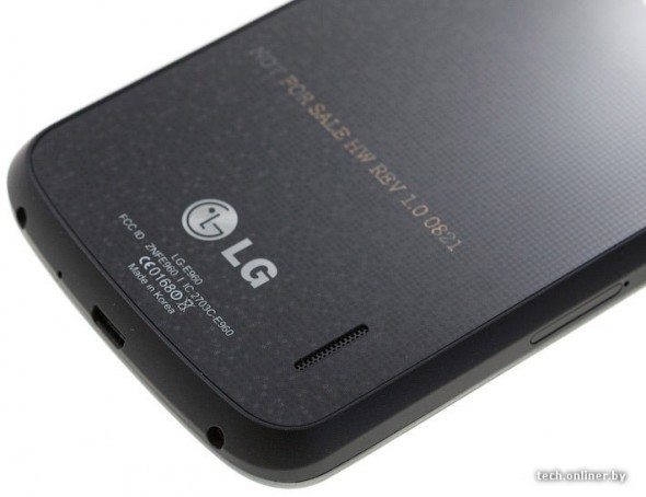 LG Google Nexus back bottom close-up