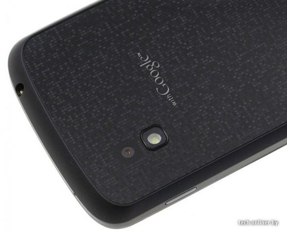 LG Google Nexus back camera close-up