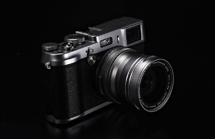 Fujifilm X100S digital camera with the wide conversion adapter